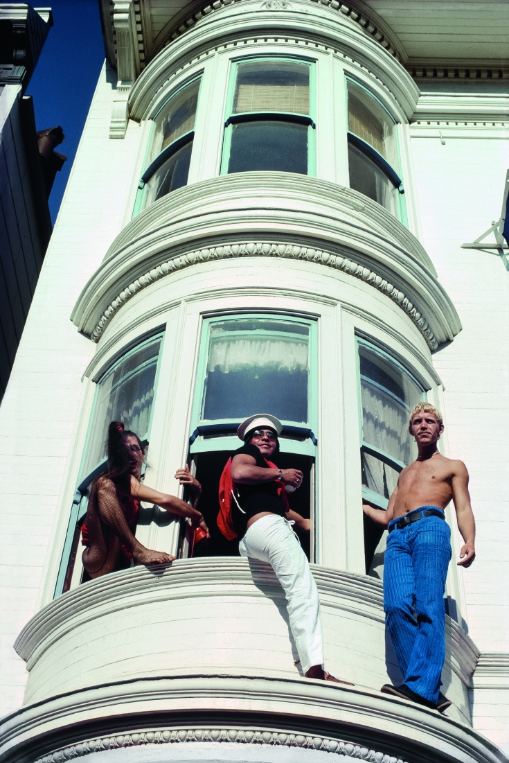 Castro Street Fair, August 1977, Rodney Price (left) and friends